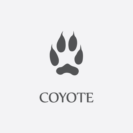 coyote: Coyote print black simple icon for web and other design.