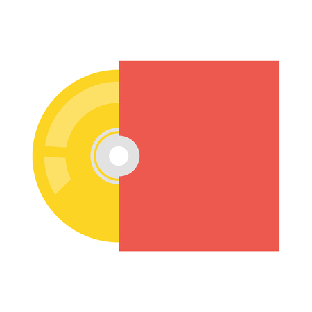 recordable media: Disk vector icon illustrator for web design