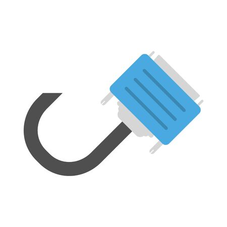 power cable: DVI- cable vector icon illustrator for web design