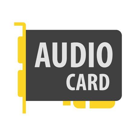 sound card: Sound card vector icon illustrator for web design