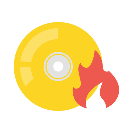 recordable: Disk vector icon illustrator for web design