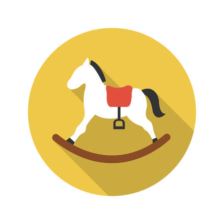 wooden toy: Horse icon of vector illustration for web and mobile design