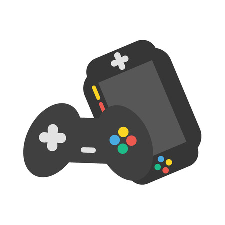 gamepads: Gamepads vector icon illustrator for web design