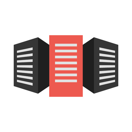 internet servers: Servers vector icon illustrator for web design