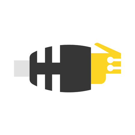 ethernet cable: LAN vector icon illustrator for web design