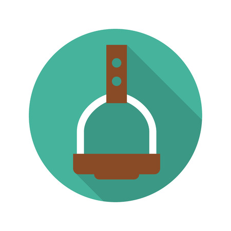 racecourse: Stirrup icon of vector illustration for web and mobile design