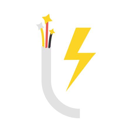 Cable vector icon illustrator for web design