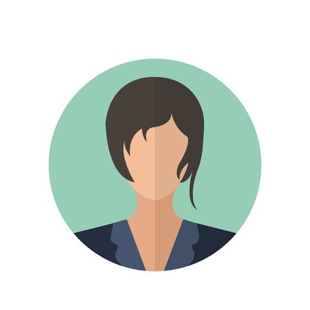 the businesswoman: Businesswoman icon of vector illustration for web and mobile design