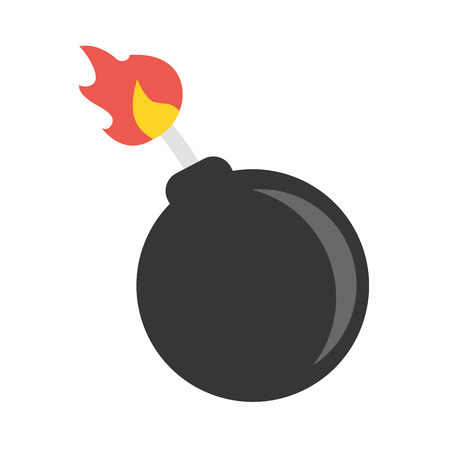 bomb explosion: Bomb vector icon illustrator for web design