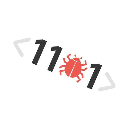 detected: Virus vector icon illustrator for web design