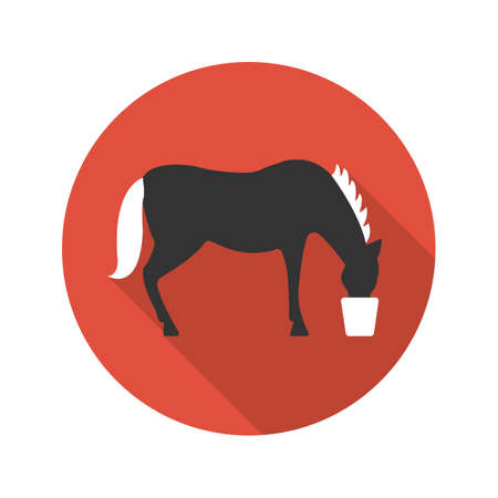 caballo bebe: Horse icon of vector illustration for web and mobile design