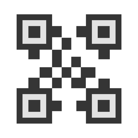 QR-code vector icon illustrator for web design