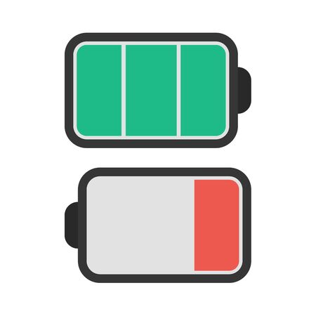 button batteries: Battery vector icon illustrator for web design
