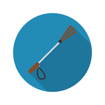 whip: Whip icon of vector illustration for web and mobile design
