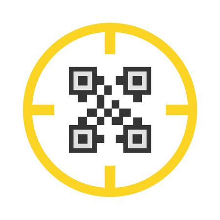 qrcode: QR-code vector icon illustrator for web design