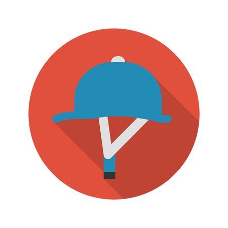 casco rojo: el icono del casco de la ilustración vectorial para la web y para dispositivos móviles