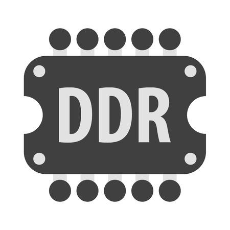 data memory: Memory vector icon illustrator for web design Illustration