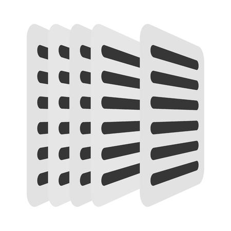 copy: Copy vector icon illustrator for web design Illustration