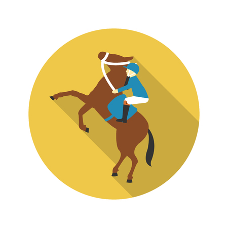hippodrome: Rider icon of vector illustration for web and mobile design