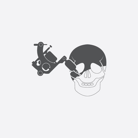 dermis: Tattoo icon of vector illustration for web and mobile design Illustration