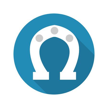 herradura: herradura icono de ilustración vectorial para la web y para dispositivos móviles Vectores