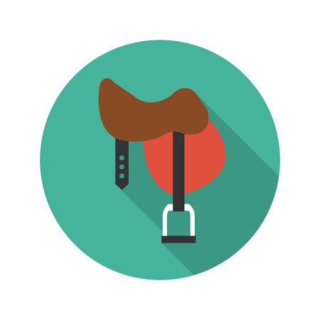 saddle: Saddle icon of vector illustration for web and mobile design