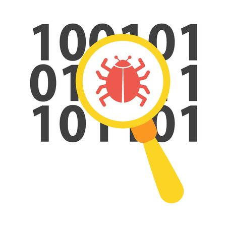 detected: Virus vector icon illustrator for web design