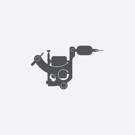 tattooing: Tattoo machine icon of vector illustration for web and mobile design Illustration