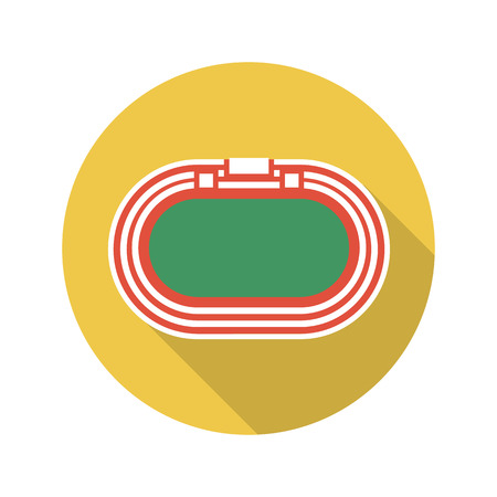strive: Racetrack icon of vector illustration for web and mobile design Illustration