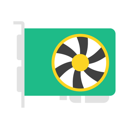 pci: Graphics Card vector icon illustrator for web design Illustration