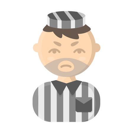prisoner: Prisoner cartoon icon. Illustration for web and mobile. Illustration