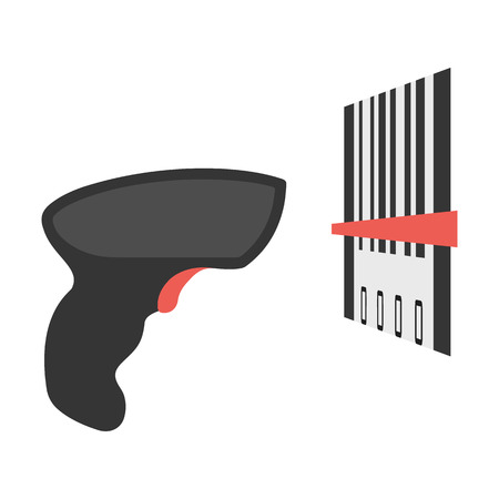 Scanner flat icon. Illustration for web and mobile.
