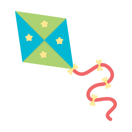 Kite cartoon icon. Illustration for web and mobile.