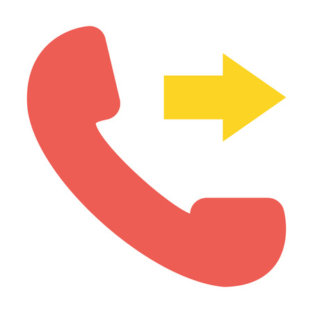 phone booth: Call flat icon. Illustration for web and mobile. Illustration