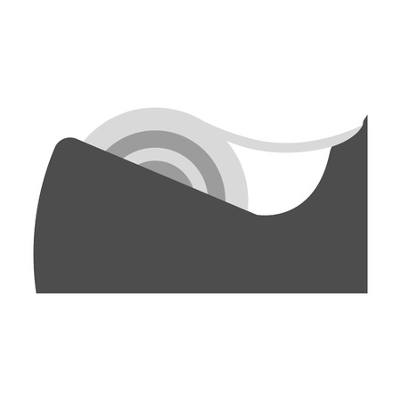 clerical: Tape flat icon. Illustration for web and mobile.