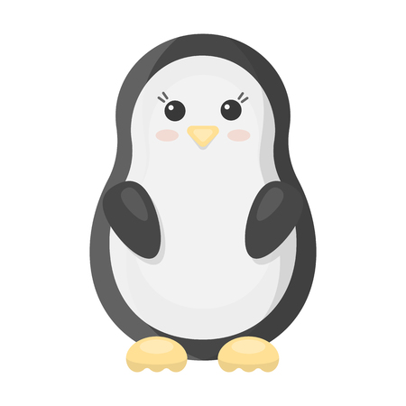 icône de bande dessinée Penguin. Illustration pour le web et mobile.