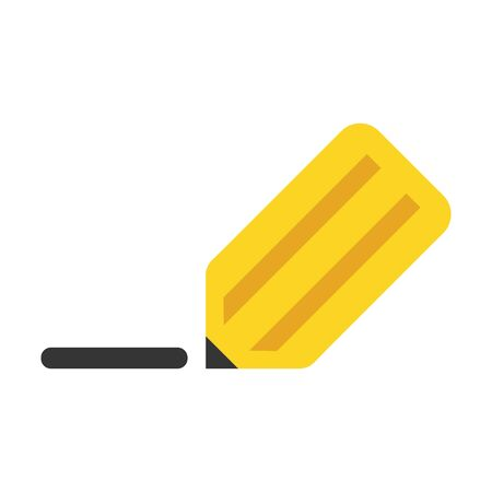 sharpened: Pencil flat icon. Illustration for web and mobile.