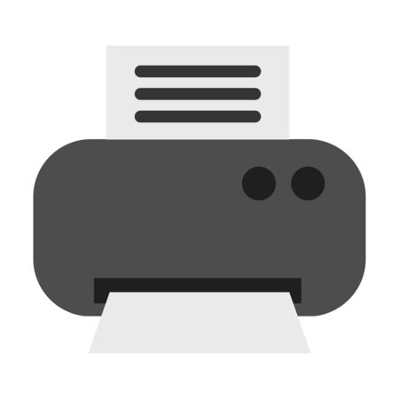 inkjet: Printer flat icon. Illustration for web and mobile.