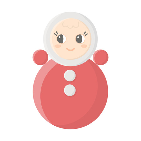 wobbly: Roly Poly cartoon icon. Illustration for web and mobile.