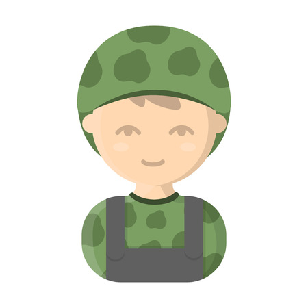 sergeant: Soldier cartoon icon. Illustration for web and mobile.