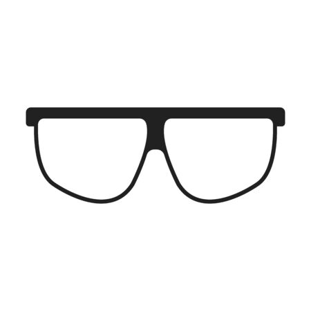 reading app: Glasses black simple icon. Illustration for web and mobile. Illustration