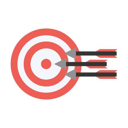 Objectifs de l'icône plat. Illustration pour le web et mobile.