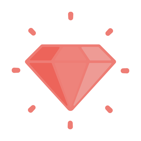 karat: Ruby flat icon. Illustration for web and mobile.