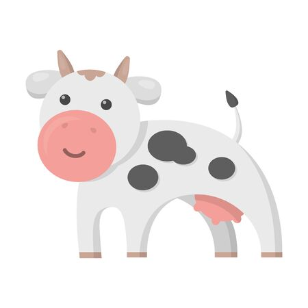 udder: Cow cartoon icon. Illustration for web and mobile.