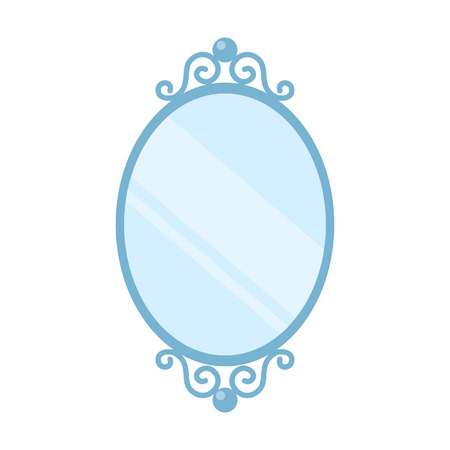 Mirror icon of vector illustration for web and mobile design Çizim