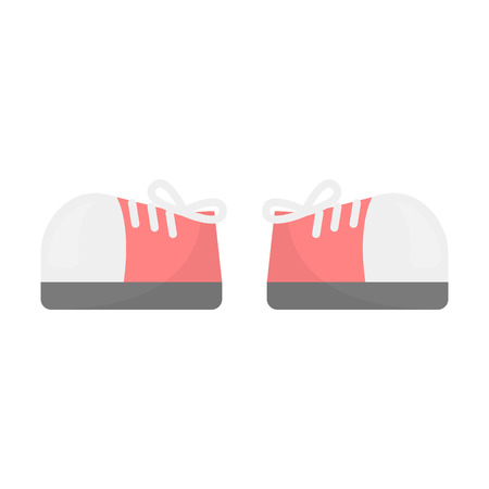 shoelaces: Gumshoes icon of vector illustration for web and mobile design