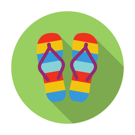 beach slippers: Beach slippers icon of vector illustration for web and mobile design Illustration