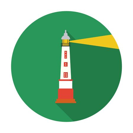 navigational light: Lighthouse icon of vector illustration for web and mobile design