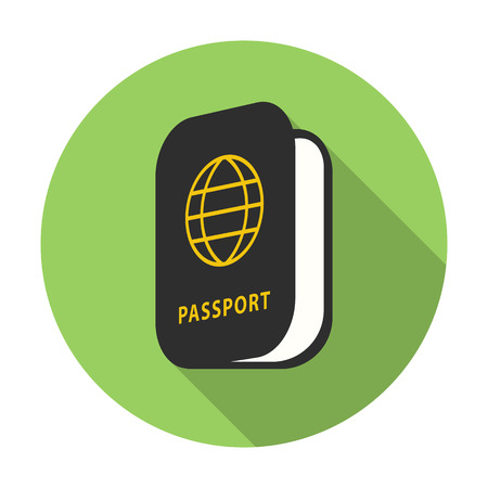 emigration: Passport icon of vector illustration for web and mobile design