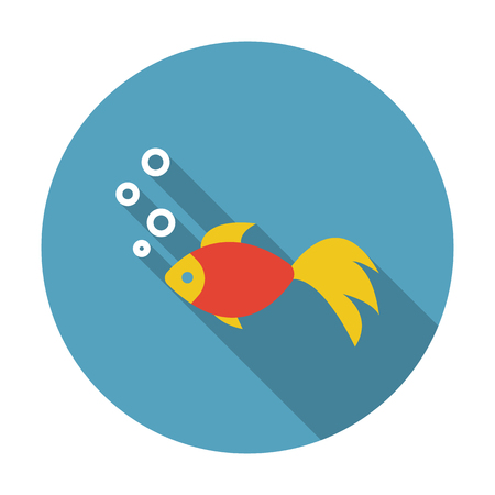 gold fish: Gold fish icon of vector illustration for web and mobile design